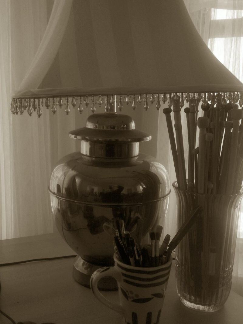 Sepia days desk