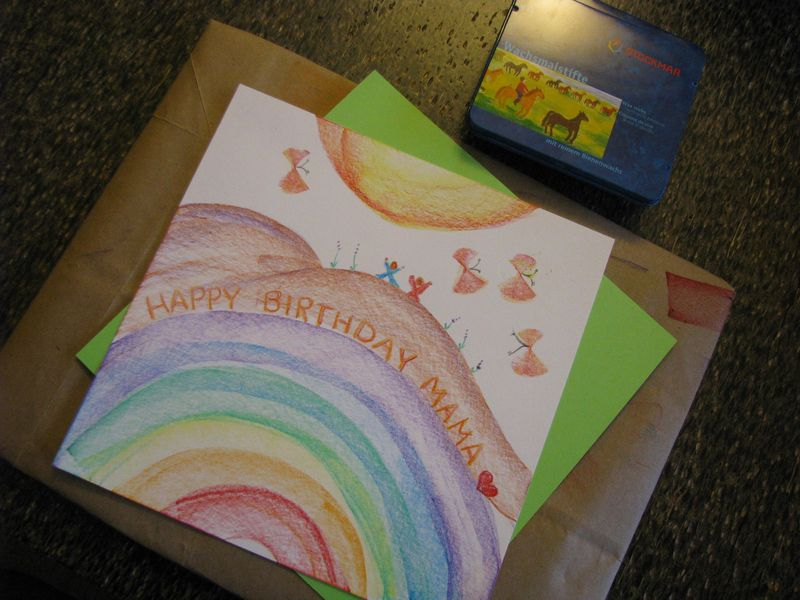 Coloring birthday card