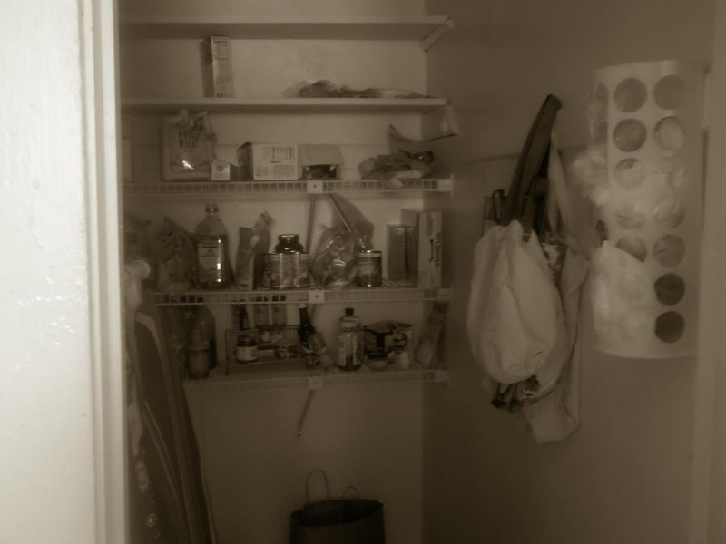 Sepia days pantry