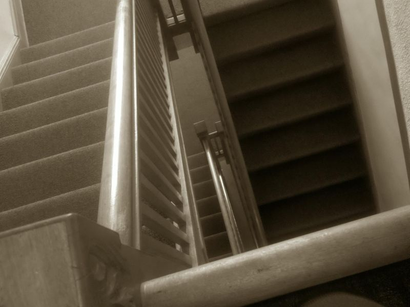 Sepia days stairwell
