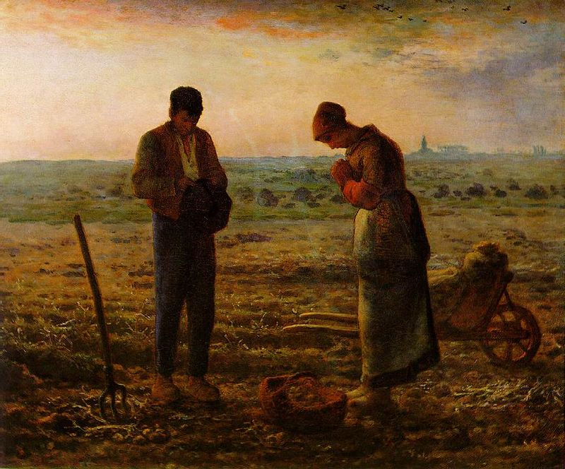 Evening Prayer Angelus Jean Francois Millet